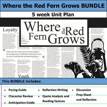 Where the Red Fern Grows Unit Bundle