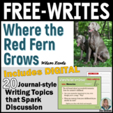 Where the Red Fern Grows - Free-Writes Journal-style Writi