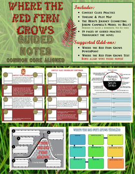 Where the Red Fern Grows Guided Notes (Common Core Aligned)