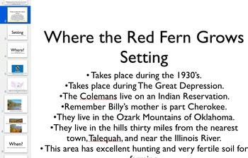 Where the Red Fern Grows Novel PowerPoint Keynote Slide De