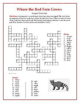 Where the Red Fern Grows: Synonym/Antonym Crossword