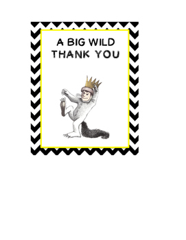 Where the Wild Things Are Thank You Cover