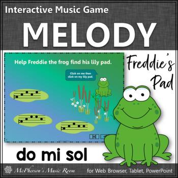Where's Freddie's Pad? Melody Do Mi Sol (PowerPoint)