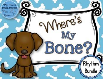 Where's My Bone?: Interactive Game and Manipulatives {Rhyt