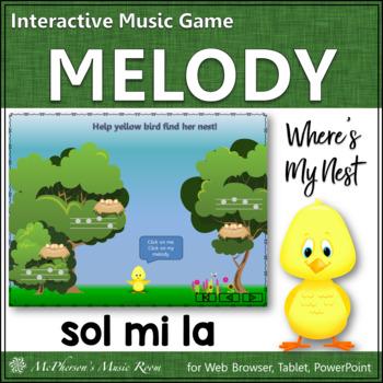 Where's My Nest?  Interactive Melody Game (Sol Mi La)