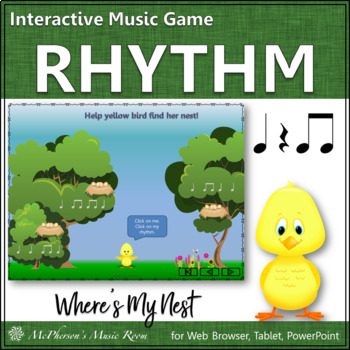 Where's My Nest?  Interactive Rhythm Game (Eighth Notes)