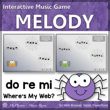Where's My Web?  Interactive Melody Game (Do Re Mi)