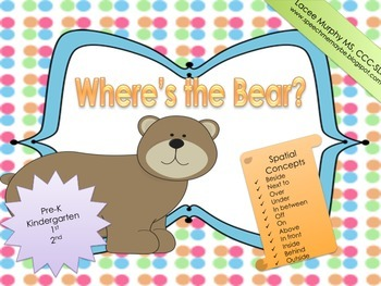 Where's the Bear?: Teaching Spatial Concepts