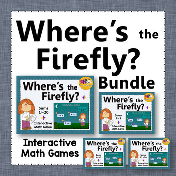 Where's the Firefly?  Bundle - Sums 1 to 20 (Interactive A