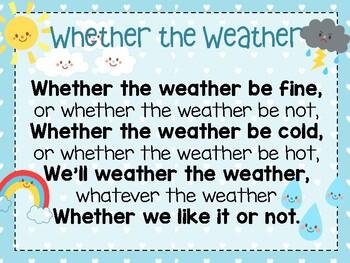 Whether the Weather, U6 W3