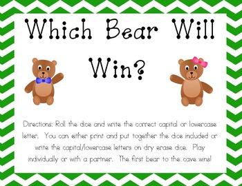 Which Bear Will Win? Handwriting Game - Zaner Bloser