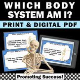 Human Body Systems Task Cards Games Science Centers