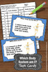 Human Body Systems Task Cards 5th 6th Grade Science Center
