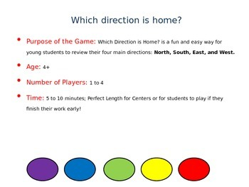 Which Direction is Home?: Cardinal Directions Game