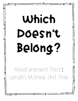 Which Doesn't Belong? Measurement sample