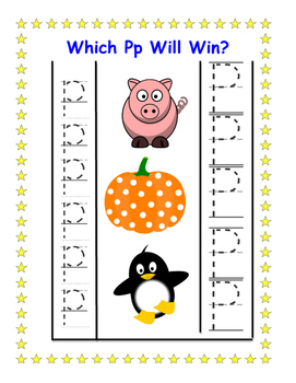 Upper/Lowercase Letter Identification Game / Center: Which