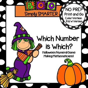 Which Number is Which?:  NO PREP Halloween Themed Numeral Game