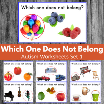 Which One Does Not Belong? Autism & Special Needs Workshee