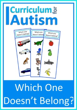 Autism, Which One Doesn't Belong? Task Cards, Special Ed,