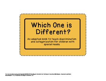 Which One is Different? Adapted Book for Children With Spe