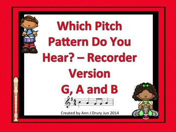 Which Pattern?  A Listening Game for Recorder (G, A and B)