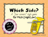 Which Side? - A four corners style Pitch Game {high low}