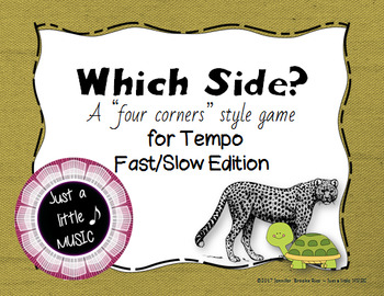 Which Side? - A four corners style Tempo Game {fast slow}
