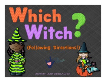 Which Witch? A Follow Directions Activity Packet