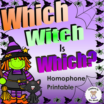 Phonics-Homophone - Which Witch is Which?