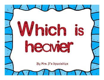Which is heavier? Interactive Math Book- Core Curriculum Aligned