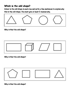 Which is the odd shape?