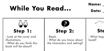 """While You Read"" Worksheet"