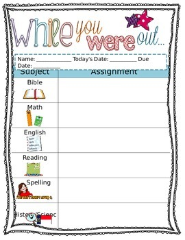 While You Were Out Editable Form