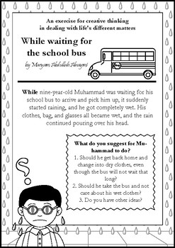While waiting for the school bus - creative thinking activity