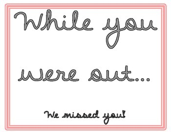 While you were out Poster