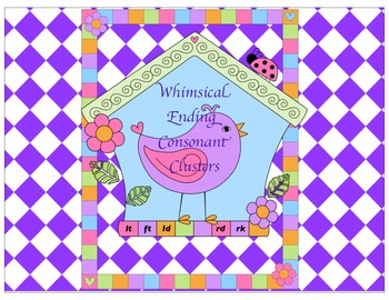 Whimsical Ending Consonant Clusters Game