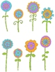 Whimsical Flowers:  40 PNGs  MarFlashSale14