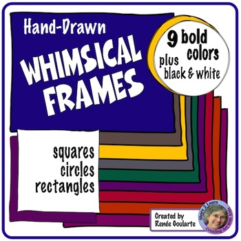 Whimsical Frames Bold Colors