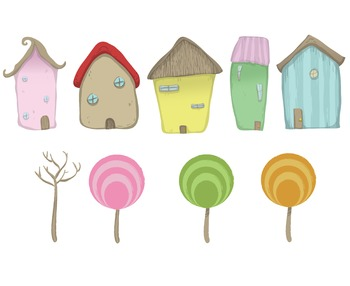 Whimsical, Fun, Colorful, Fantasy Like Houses Complimented
