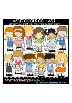 Whimsical Kids TWO Clipart Collection