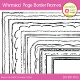 Whimsical Page Border Frames: Black and White Digital Frames