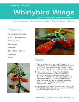 Whirlybird Wings: Maple Tree Seed Creatures That Fly!