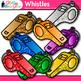 Rainbow Whistle Clip Art {Glitter Sports Equipment for Gym
