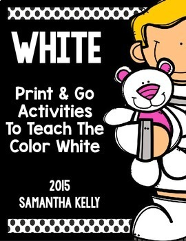 The Color White Printables