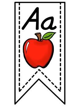 White Alphabet Banner
