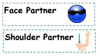 White Board Tags Face Partner/Shoulder Partner