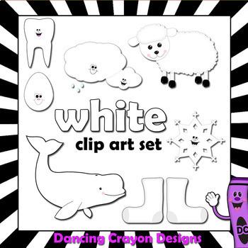 White Clip Art - Color Clipart Series Set 10