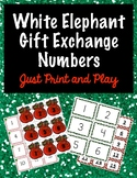 White Elephant Gift Exchange Numbers - Just Print and Play