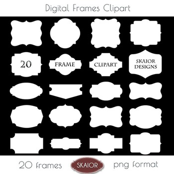 White Frames Clipart Borders Clipart Scalloped Bracket Pri