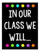 """White and Bright """"Be's"""" Classroom Expectation Posters"""